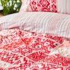 купить Постельное белье Karaca Home ранфорс Pietra kirmizi Красный фото 114650