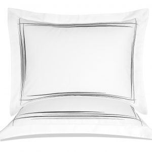 купить Постельное белье MieCasa сатин Beverly antrasit-gri Белый фото