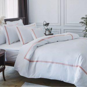 купить Постельное белье MieCasa сатин Milano mercan Белый фото