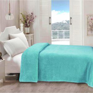купить Простынь Iris Home махровая Aruba blue Ментоловый фото