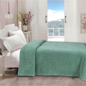 купить Простынь Iris Home махровая Malahite green 190*220 Бирюзовый фото