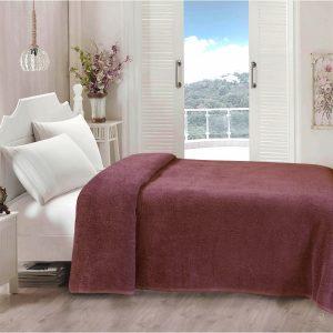 купить Простынь Iris Home махровая Renaissance rose 190*220 Бордовый фото