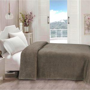 купить Простынь Iris Home махровая Walnut Серый фото