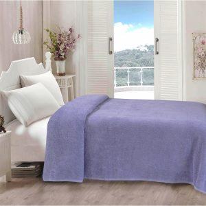 купить Простынь Iris Home махровая Wisteria Фиолетовый фото