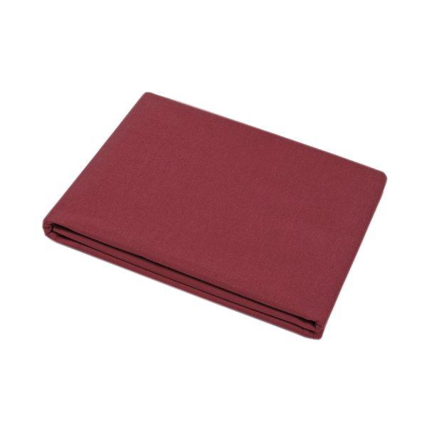 купить Простынь Iris Home premium ранфорс Бордовый 220*240 Бордовый фото