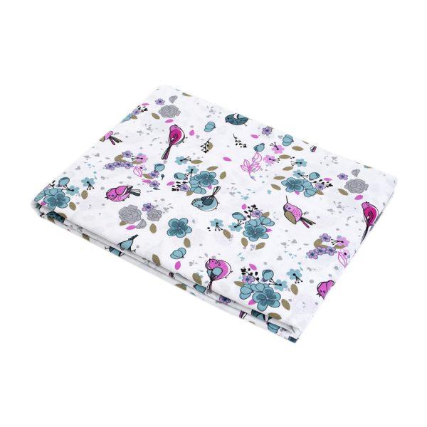 купить Простынь Iris Home premium ранфорс Jenny бирюзовый 220*240 Сиреневый фото