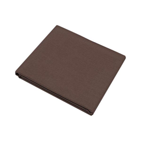 купить Простынь Iris Home premium ранфорс Темно-коричневый 180*215 Коричневый фото