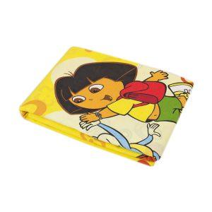 купить Простынь Iris Home ранфорс для подростков Dora sari желтый 150*210 Желтый фото