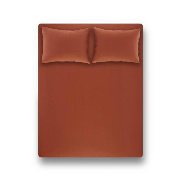 купить Простынь на резинке с наволочками Penelope Laura brick red Коричневый фото