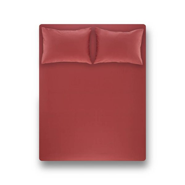купить Простынь на резинке с наволочками Penelope Laura coral Красный фото