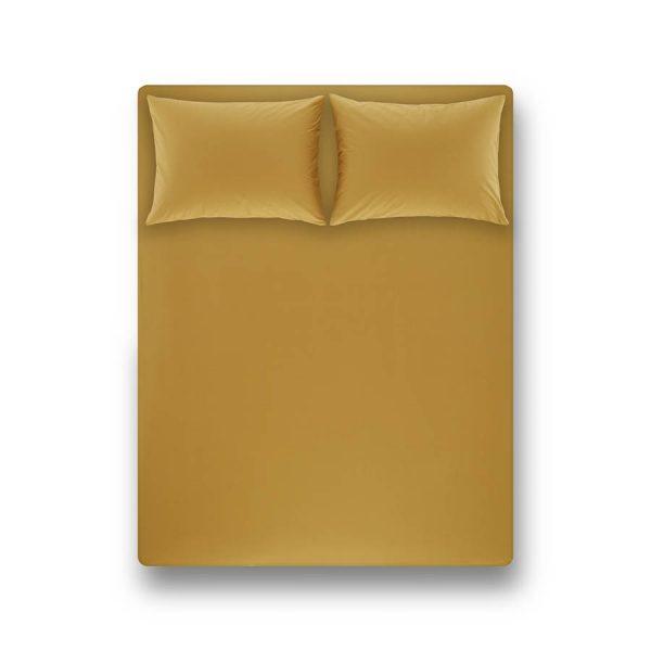 купить Простынь на резинке с наволочками Penelope Laura moss green Желтый фото