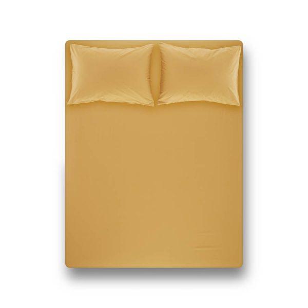 купить Простынь на резинке с наволочками Penelope Laura mustard Желтый фото