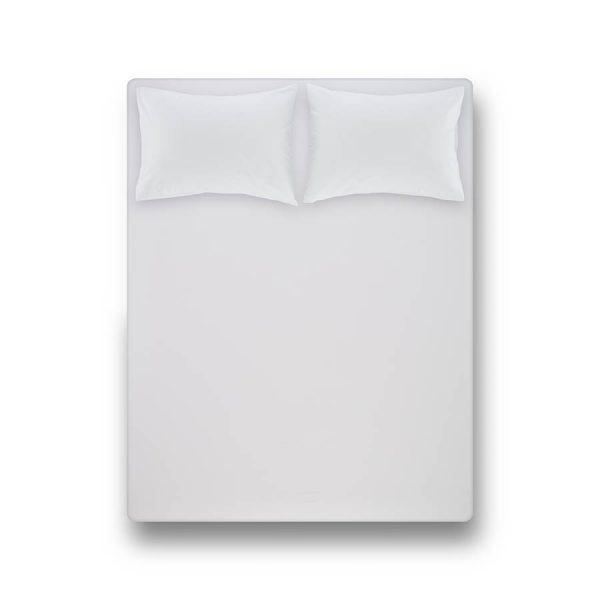 купить Простынь на резинке с наволочками Penelope Laura white Белый фото