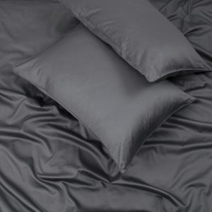 купить Простынь на резинке с наволочками Penelope Stella antrasit Черный|Серый фото