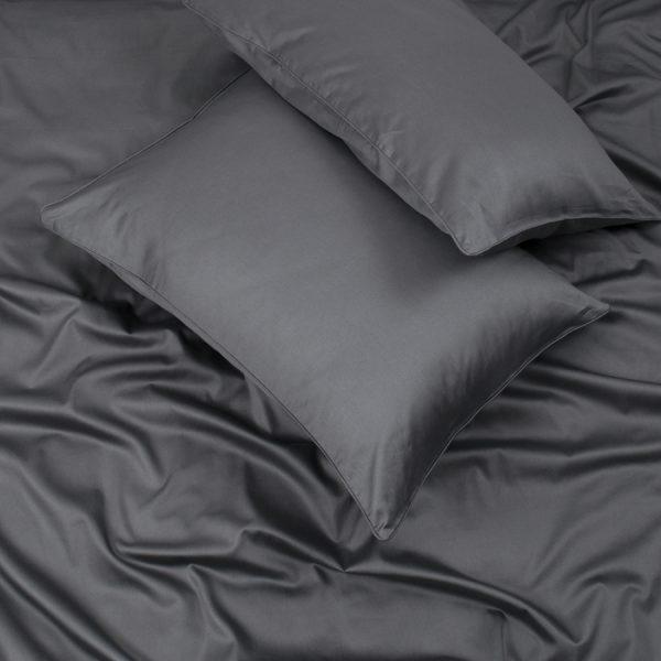 купить Простынь на резинке с наволочками Penelope Stella antrasit Черный Серый фото