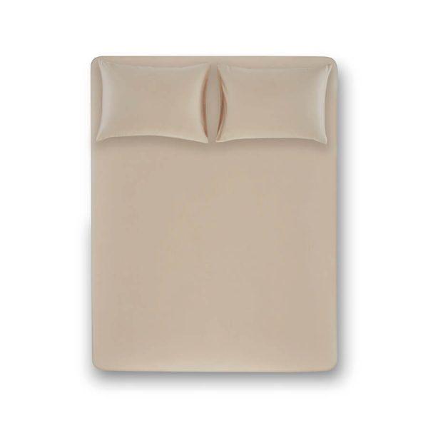 купить Простынь на резинке с наволочками Penelope Stella stone Бежевый фото