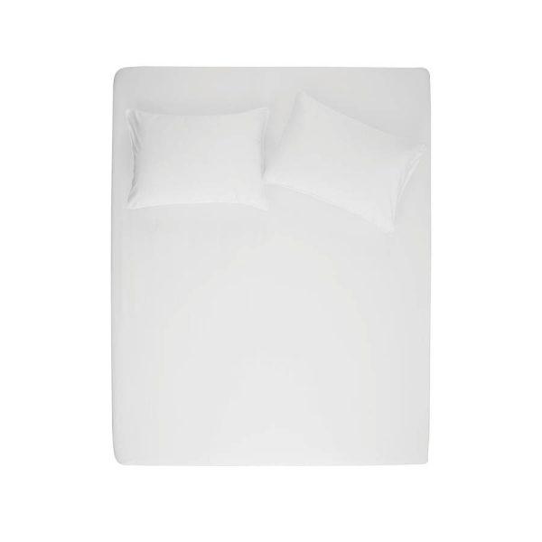 купить Простынь на резинке с наволочками Penelope Stella white Белый фото