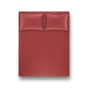 купить Простынь на резинке с наволочкой Penelope Laura coral Красный фото