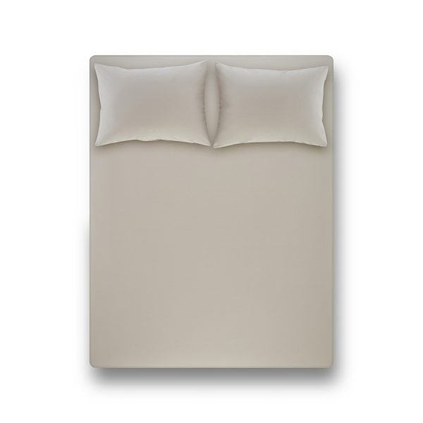 купить Простынь на резинке с наволочкой Penelope Laura light grey Серый фото