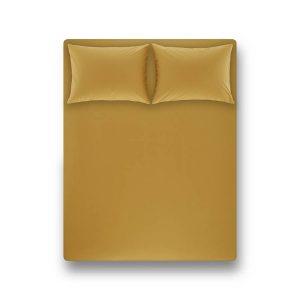 купить Простынь на резинке с наволочкой Penelope Laura moss green Желтый фото