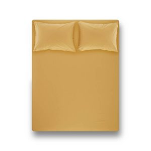 купить Простынь на резинке с наволочкой Penelope Laura mustard Желтый фото