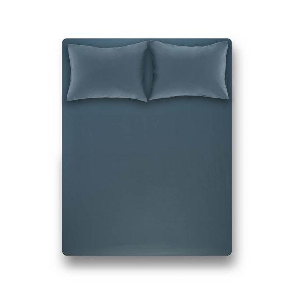 купить Простынь на резинке с наволочкой Penelope Laura petrol Серый фото